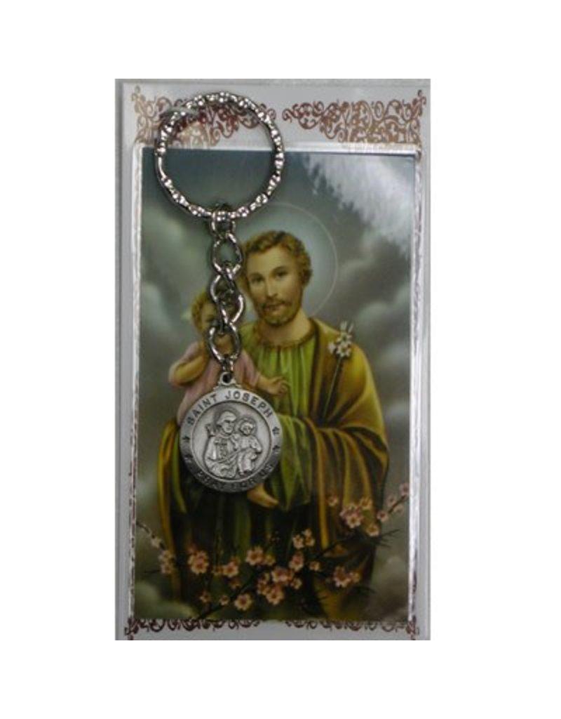 McVan St. Joseph Key Ring with Prayer Card