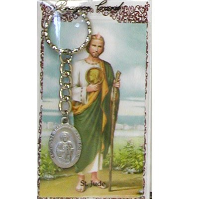McVan St. Jude Key Ring with Prayer Card