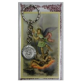 McVan St. Michael Key Ring with Prayer Card