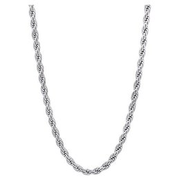 "McVan 18"" French Rope Rhodium Plated Chain"