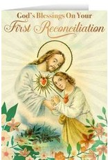 First Reconciliation Greeting Card Sacred Heart