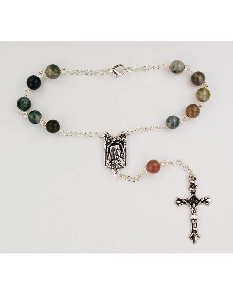 McVan 6mm India Agate Auto Rosary
