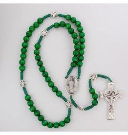 McVan Dark Green Wood Cord St. Patrick Rosary