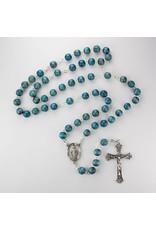 McVan 7mm Blue Wood Rosary