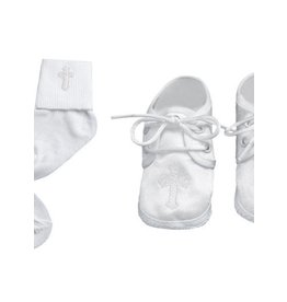 Lauren Madison Boy's Baptism Socks and Shoes Set [2432]
