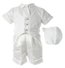 Lauren Madison Boy's Baptism Shorts Clothing Set [1436]
