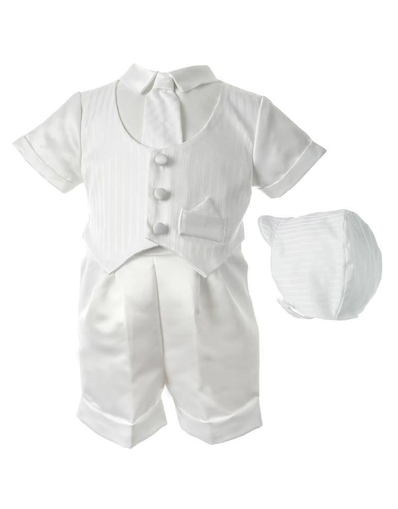 Lauren Madison Boy's Baptism Shorts Clothing Set [1436]