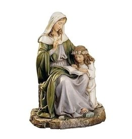 "Roman, Inc 7"" Saint Anne with Mary Statue"