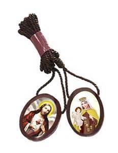 Religious Art Inc Oval Wooden Scapular (Brazillian scapular)