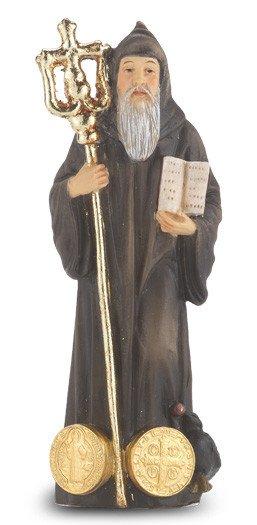 """WJ Hirten 4"""" Statue with Prayer Card"""