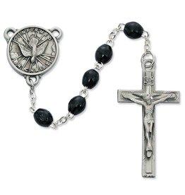 McVan 4x6mm Black Wood Holy Spirit Confirmation Rosary