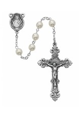 6MM Pearl Glass Rosary