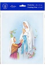 "WJ Hirten 8"" X 10"" Our Lady of Lourdes (Print Only)"
