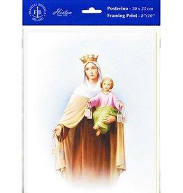 "WJ Hirten 8"" X 10"" Our Lady of Mount Carmel (Print Only)"