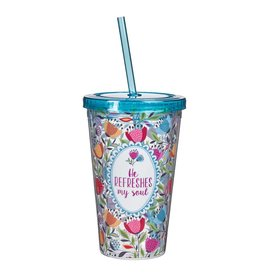 Christian Art and Gifts Plastic Tumbler: He Refreshes My Soul