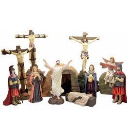 "DTC 7.5"" Resin Resurrection of Jesus Christ 12 Piece Statue Set"