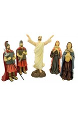"DTC 7.5"" Resin Resurrection of Jesus Christ 12 Piece Statue Set"