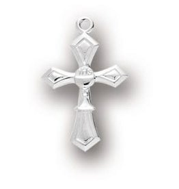 "HMH Religious 1"" Sterling Silver Cross with Chalice on 18"" Chain"