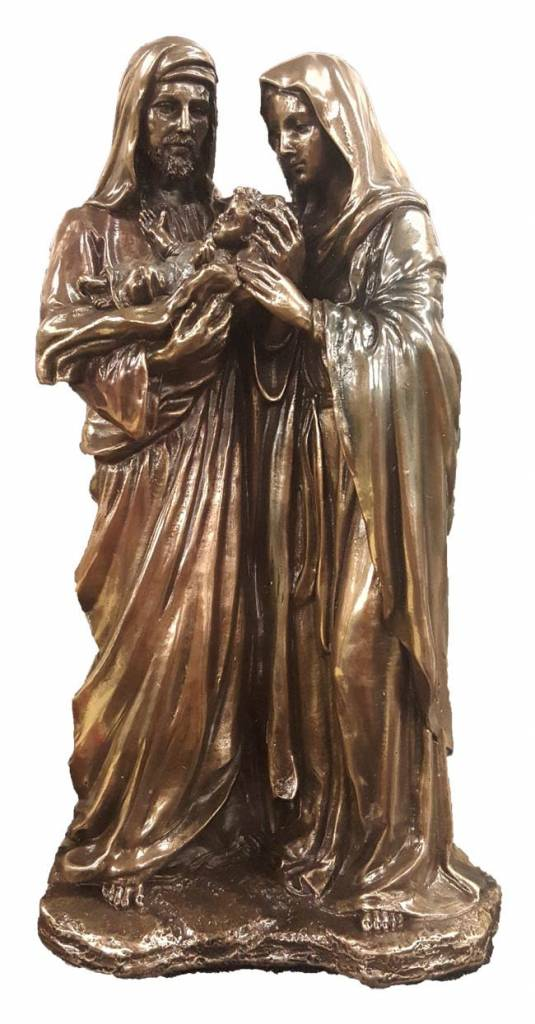 "Goldscheider of Vienna 8.5"" Holy Family Cold Cast Bronze Statue"