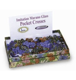 HJ Sherman Imitation Murano Glass Pocket Crosses