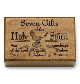 HJ Sherman Mahogany Keepsake Box Seven Gifts