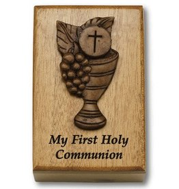 HJ Sherman Mahogany Keepsake Box Chalice