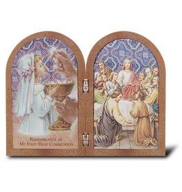 WJ Hirten First Communion Bi-Fold Plaque (Girl)