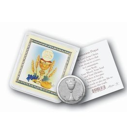 WJ Hirten Communion Pocket Token with Prayer Card