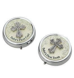 "Roman, Inc ""Baby's First"" Enameled Round Boxes (Set of 2)"