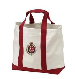 Faith Life Family Mom's Canvas Travel Tote Women's Shopping Tote with Faith Life Family Crest
