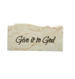 Holy Land Stone Give it to God - Promise Stone
