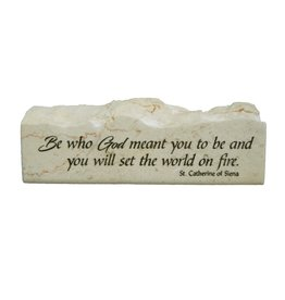 Holy Land Stone Be who God meant you to be - Scripture Stone