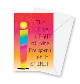 Christian Brands Note Cards with Envelopes 12 Pack- This Little Light Of Mine
