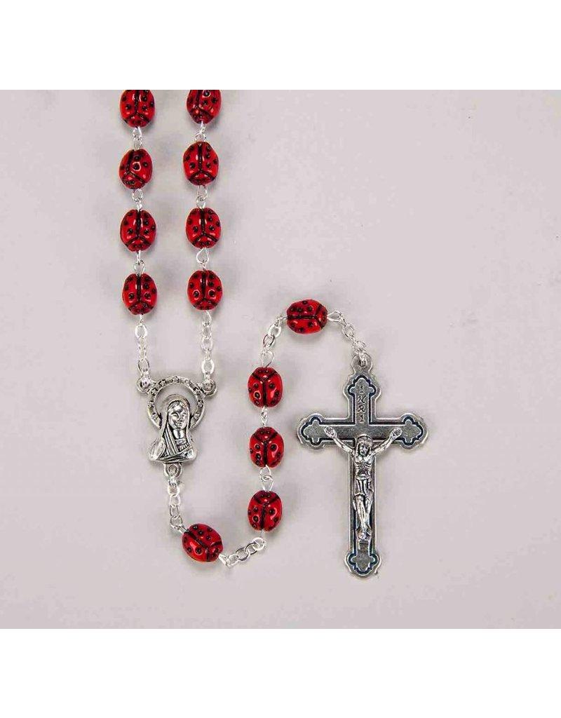 """WJ Hirten Our Lady's Bug (""""Ladybug"""") Rosary"""