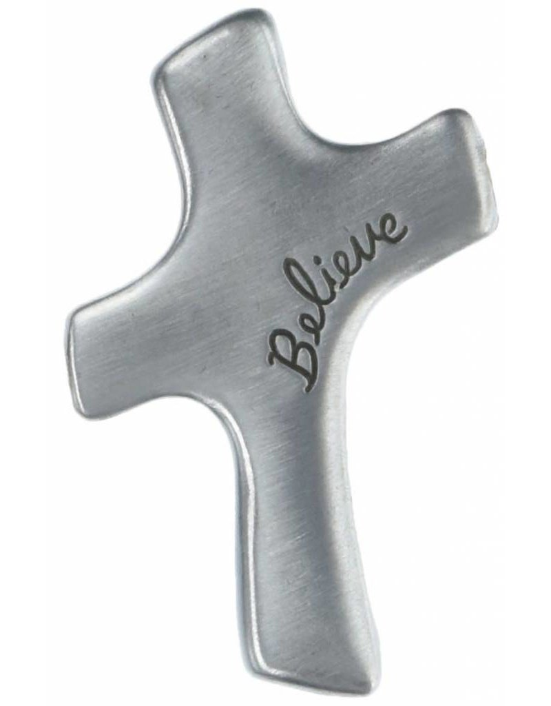 Cathedral Art Believe Palm Comfort Cross