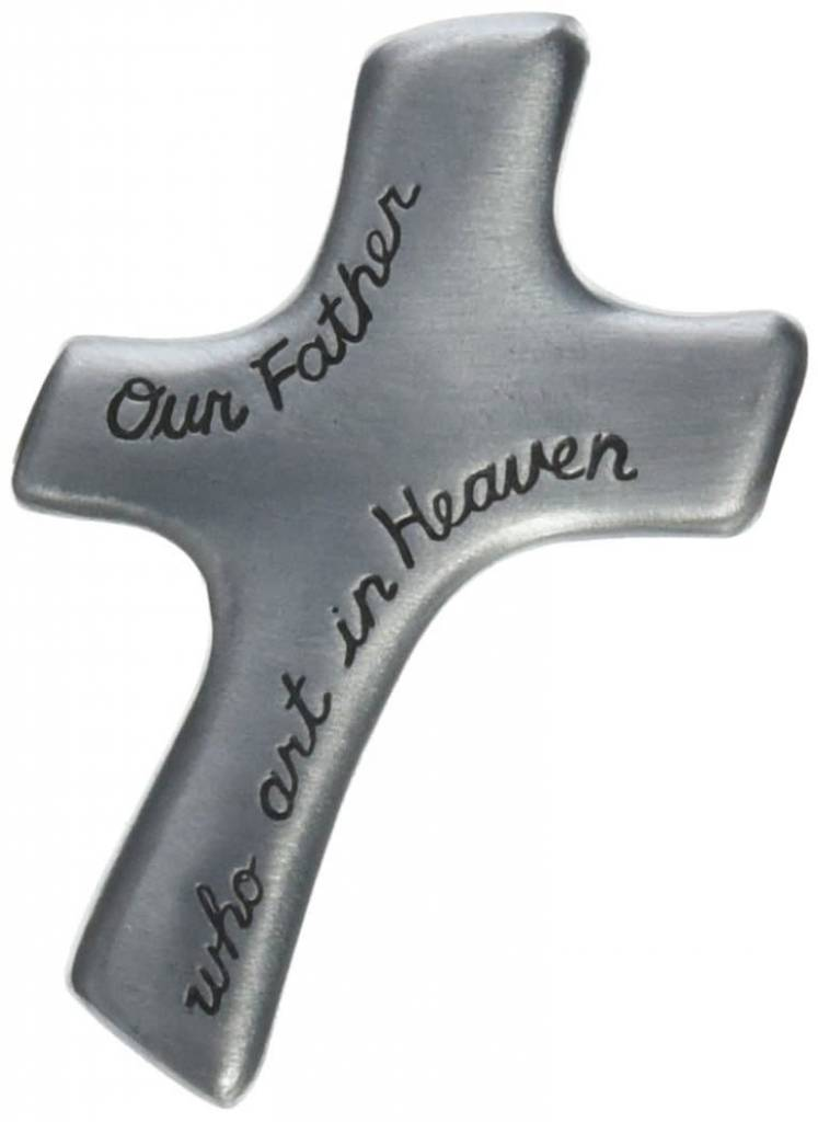 "Cathedral Art Our Father Who Art in Heaven Palm Cross, 2-7/8"" x 1-7/8"""