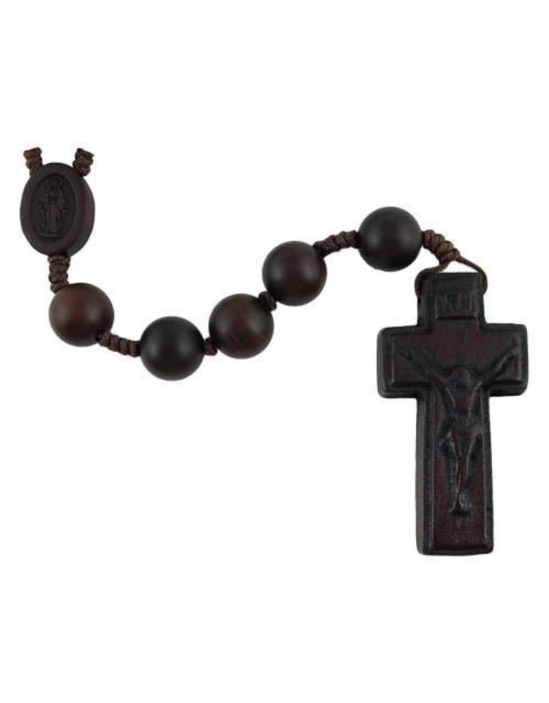 Sine Cera Dark Jujube Wood Rosary (8mm)