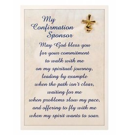 Abbey Press My Confirmation Sponsor Pin With Card