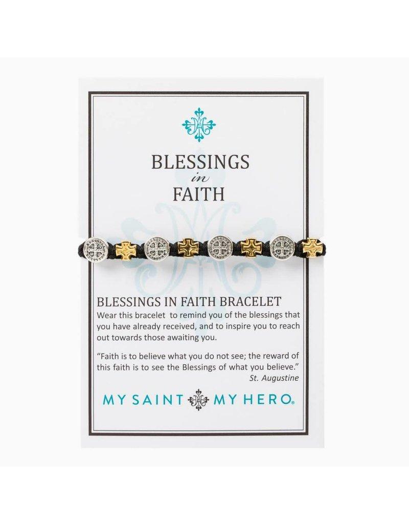 My Saint My Hero Blessings in Faith Bracelet - White/Mixed