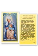 WJ Hirten Laminated Holy Card