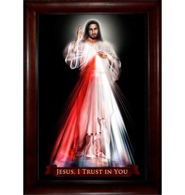 "Thomas Valle 30"" x 60"" Framed Divine Mercy by Thomas Valle"