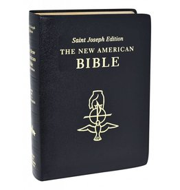 Catholic Book Publishing Corp Large Print New American Bible Black Leather St. Joseph Edition