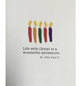 Pio Prints Life With Christ is a wonderful adventure Happy Birthday Card