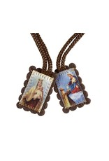 Christian Brands Brown Wool Scapular With Full Color Images