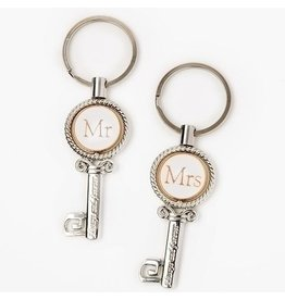 Roman, Inc Mr. and Mrs. Always and Forever Keys Keychain