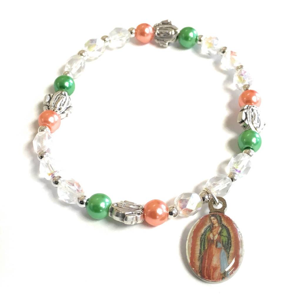 McVan Our Lady of Guadalupe Stretch Bracelet