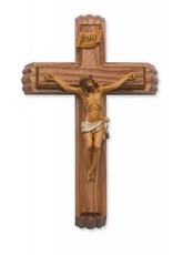 "McVan 13"" Walnut Stained Crucifix Sick Call Set"