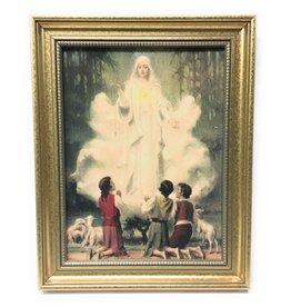 "John Brandi 11.5"" x 14"" Our Lady of Fatima Framed Art"