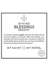My Saint My Hero Divine Blessings Bracelet Tan and Sliver