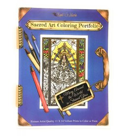 Nippert & Co. Artworks Sacred Art Coloring Portfolio - Mary Around The World in Stained Glass